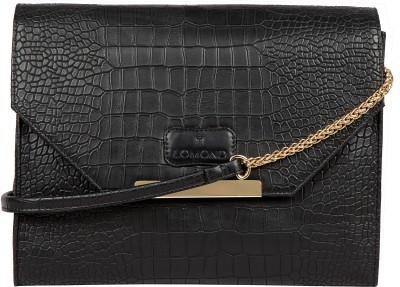 Lomond Women Evening/Party Black PU Sling Bag