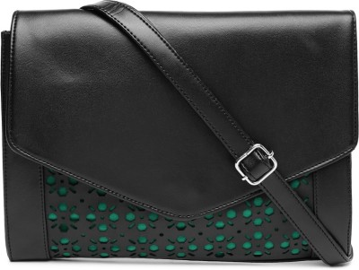 Dressberry Women Black PU Sling Bag