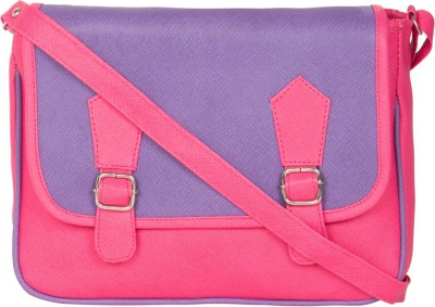 MTE Girls Pink Leatherette Sling Bag