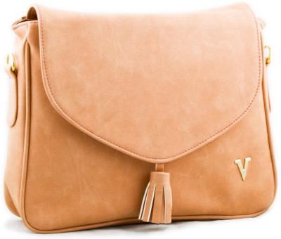 Voaka Girls, Women Orange Leatherette Sling Bag
