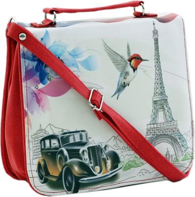 Felicita Women, Girls Red, White PU Sling Bag