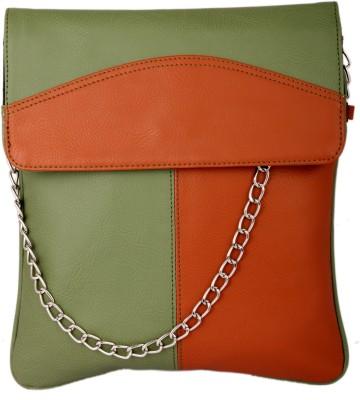Spice Art Girls Casual Green, Tan Leatherette Sling Bag
