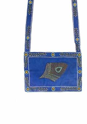 Himalaya Handicraft Women Blue Polyester Shoulder Bag