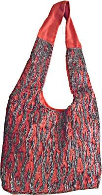 Ellye Girls Red Cotton Sling Bag