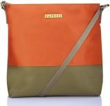 Caprese Women Orange, Green Nylon Sling ...