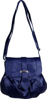 Triveni Women Blue Rexine Sling Bag