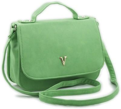 Voaka Girls, Women Green Leatherette Sling Bag