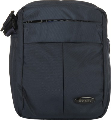 Bendly Boys Casual Blue Polyester Sling Bag