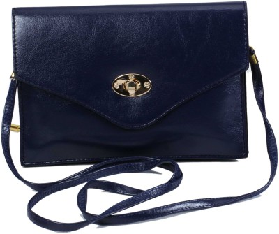 Classique Women Casual, Formal, Evening/Party Blue PU Sling Bag