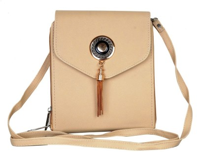 Murcia Women Beige PU Sling Bag