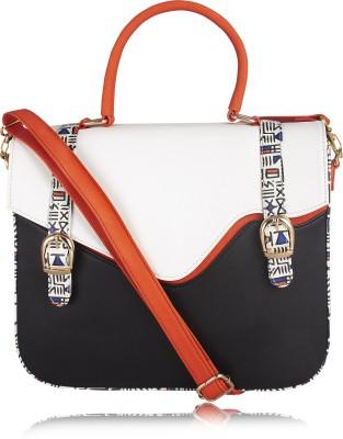 Zaera Women White PU Sling Bag