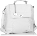 BUTTERFLIES Women White PU Sling Bag