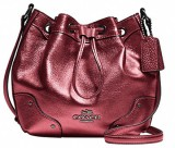 Coach Women Pink Genuine Leather Sling B...
