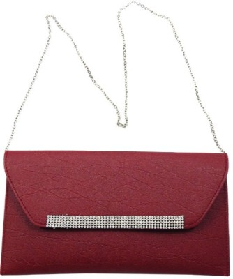 mezzo99 Women, Girls Maroon PU Sling Bag