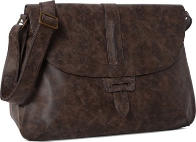Baggit Girls, Women Brown Rexine Sling Bag