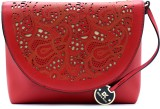 Diana Korr Women Casual Red PU Sling Bag
