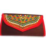 Indian Swan Women Brown Cotton Sling Bag