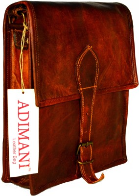 Adimani Women Brown Genuine Leather Sling Bag
