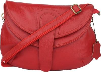 Incredible Range Women Red Genuine Leather Shoulder Bag