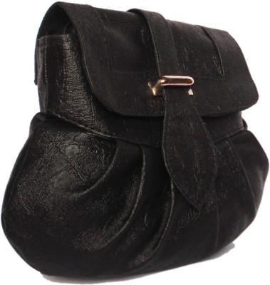 WEEBILL Girls Black PU Sling Bag