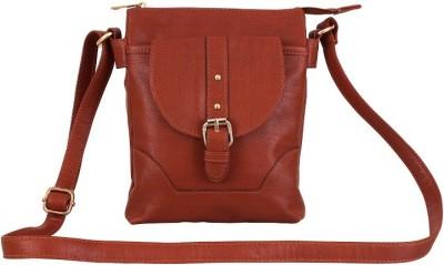 Lychee Bags Women Maroon PU Sling Bag