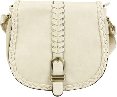 Colors Inc. Women Beige Leatherette Sling Bag