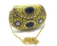 Nakkashee Women Multicolor Metal Sling Bag