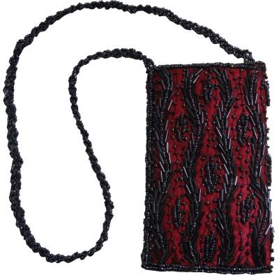 Avinash Handicrafts Evening/Party Pink Beads Sling Bag