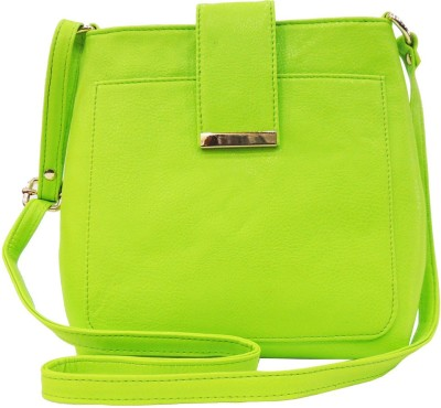 Madame Exclusive Girls, Women Green Leatherette Sling Bag