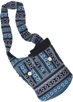 Little India Women Casual Black Jute Sling Bag