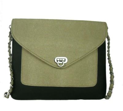 Estoss Women Beige Genuine Leather Sling Bag