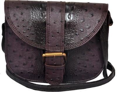 The Runner Girls Casual Purple Leatherette Sling Bag