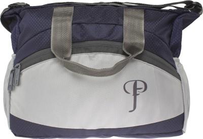 Purple Feather Men Blue Nylon Sling Bag