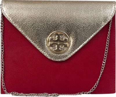 La Passo Girls, Women Red Leatherette Sling Bag
