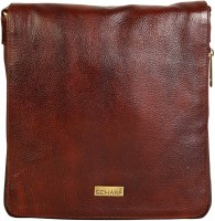 Scharf Men & Women Brown Genuine Leather Sling Bag