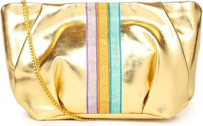 109F Women Gold PU Sling Bag