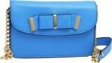 Super Drool Women Blue PU Sling Bag
