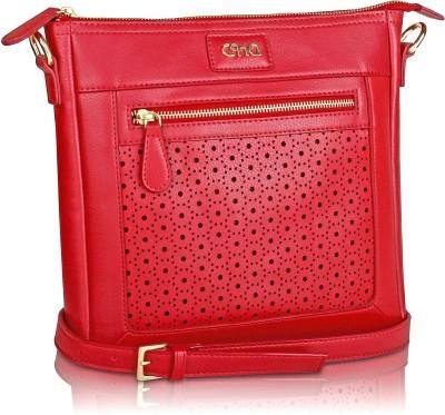 Ccha Women Red PU Sling Bag