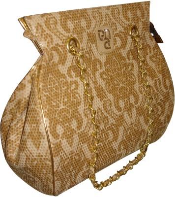 PNA Women Casual Gold PU Sling Bag
