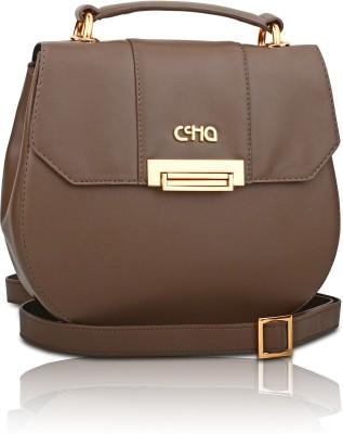 Ccha Girls Brown PU Sling Bag