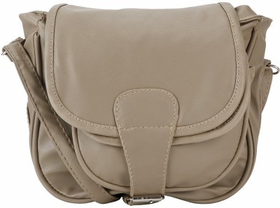Naaz Bag Collection Women Casual Beige Leatherette Sling Bag