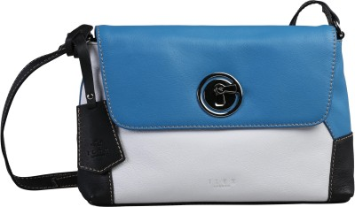 ILEX London Women Casual Blue Genuine Leather Sling Bag