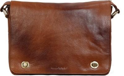 Scharf Men, Women Casual, Formal Tan Genuine Leather Sling Bag