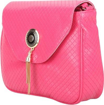 Red Rose Women Pink PU Sling Bag