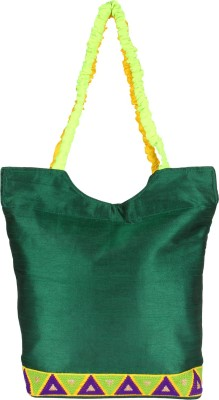 Art Horizons Women Green Cotton Shoulder Bag