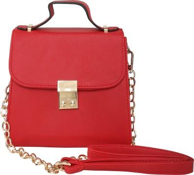 ToniQ Girls, Women Red Polyester Sling Bag