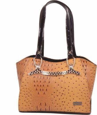SK-Effects7 Women Brown Leatherette Sling Bag
