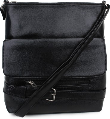 Star Style Women Black Leatherette Sling Bag