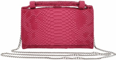 President Bags Women Evening/Party Pink Polyester Sling Bag