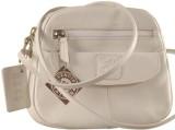 eZeeBags Women White Genuine Leather Sli...